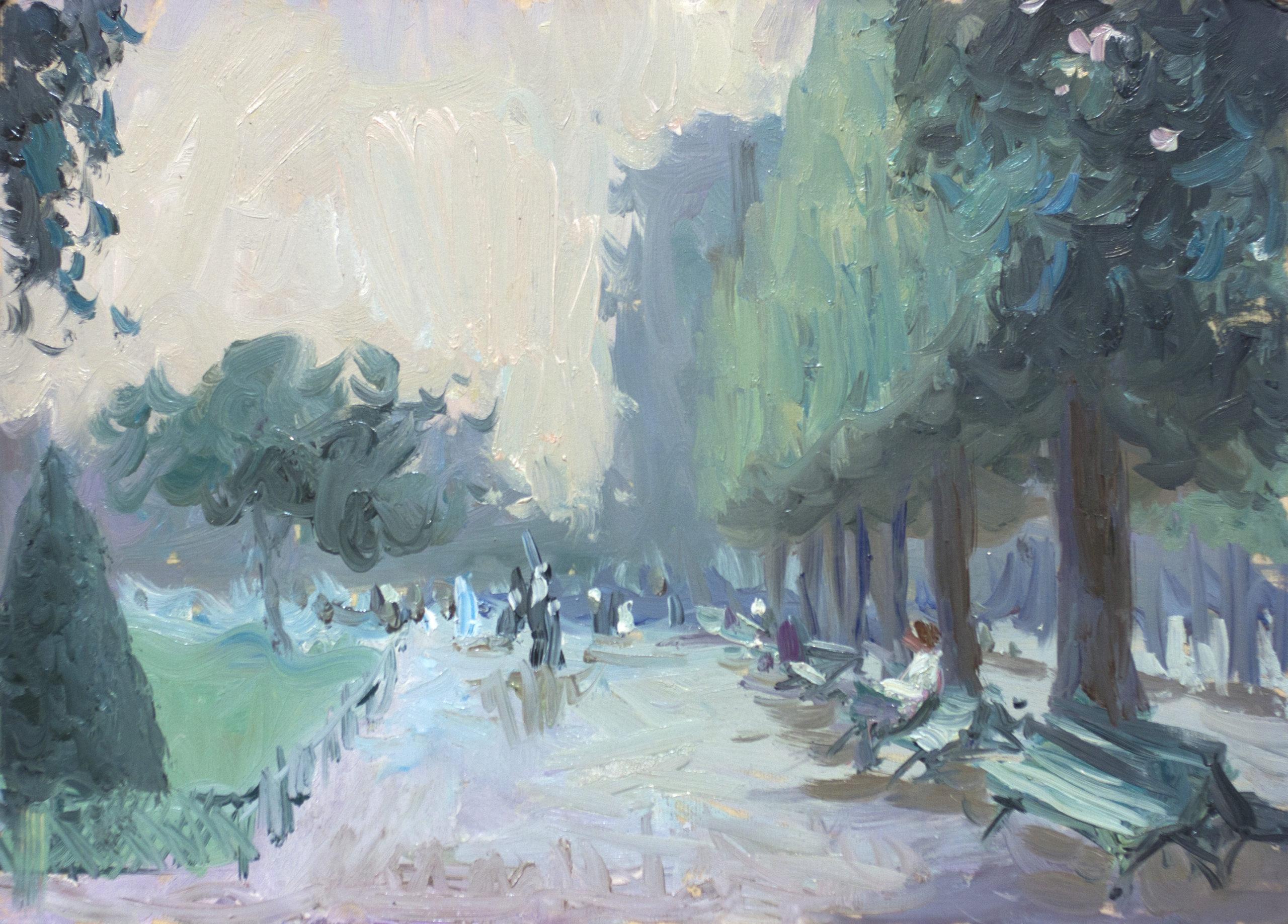 Евгений Щеглов «Аллея в парке»