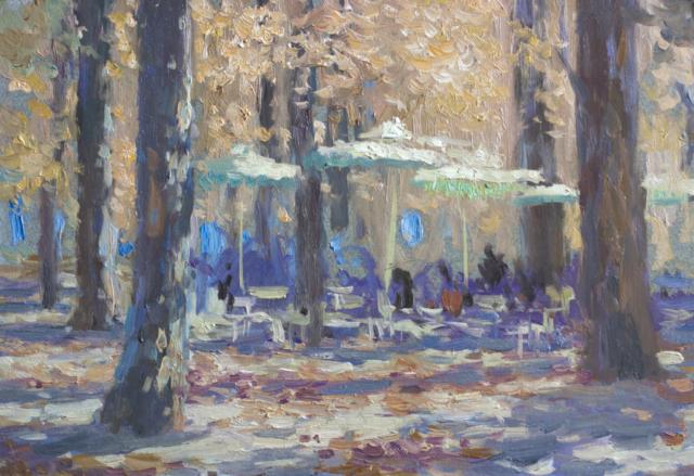 Евгений Щеглов «Кафе в Люксембургском саду»