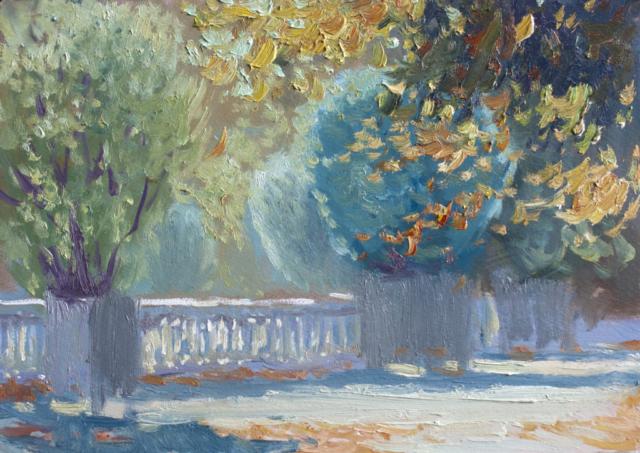 Евгений Щеглов «Люксембургский сад осенью»