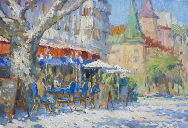 Евгений Щеглов «Кафе в Сан-Рафаэле»