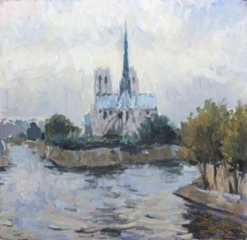 Евгений Щеглов «Сена, Нотр Дам»