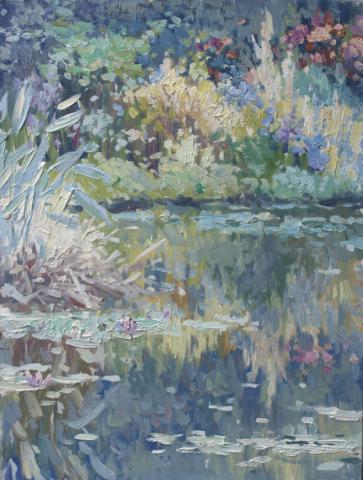 Евгений Щеглов «Цветы на берегу»