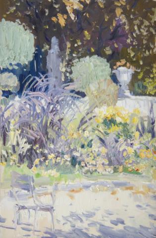 Евгений Щеглов «Цветы в Люксембургском саду»