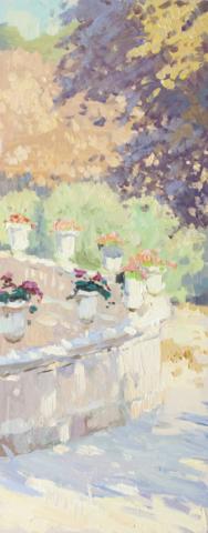 Евгений Щеглов  «Вазы с розами.Люксембургский сад»