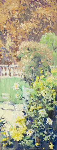 Евгений Щеглов «Желтые цветы в Люксембургском саду»
