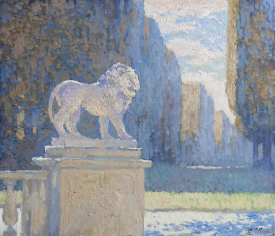 Евгений Щеглов «Лев в Люксембургском саду»