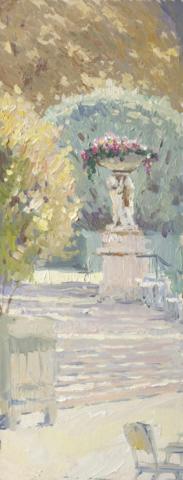 Евгений Щеглов «Лестница в Люксембургском саду»